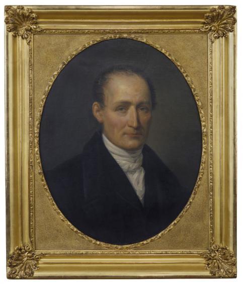 Léonard François BERGER, Portrait posthume de J.N. Niépce, peinture à l'huile sur toile, 1854 © musée Nicéphore Niépce