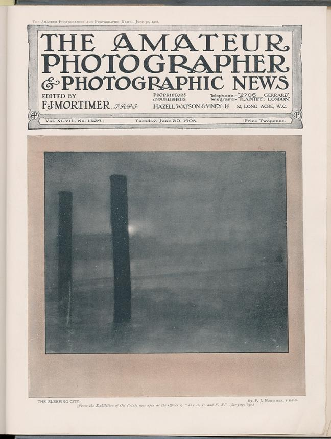 The Amateur Photographer & Photographic News, vol. XLVII, n°1239,  30 juin 1908